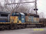 CSX engine 8129 screams for new paint