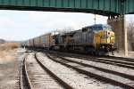 CSX 7875 & 5357 eading WB auto rack train