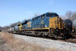 CSX 856 & 503 sitting with coal cars waiting to go east
