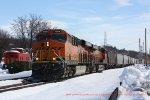 V088 grain train with BNSF leaders