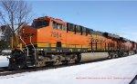 BNSF #7984 leading westbound grain train V088