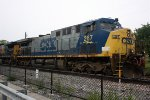 CSX 267 sitting and waiting to go east