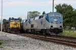 AMTK 202 passing CSX 267; eastbound Capital Limited