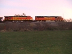 BNSF 9990 and 5735