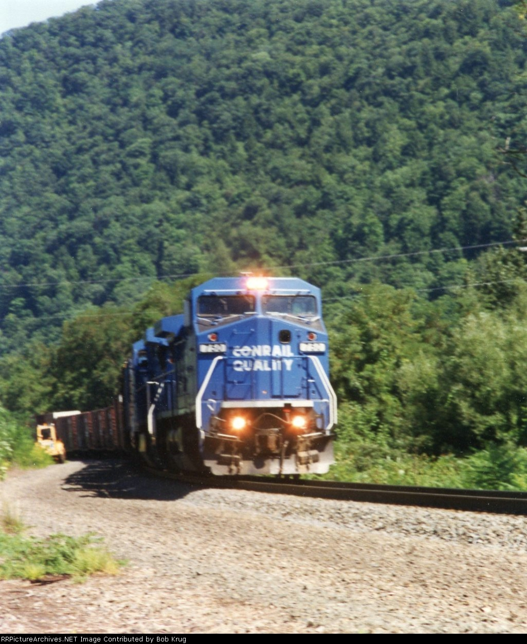 Southbound freight descends Keating Hill