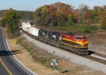 KCS 4038 highballing east on the point of 220 at CP Baggett