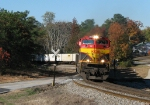 NS 220 coming around the S curve at Douglasville