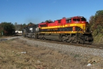 KCS 4038 rounding the S curve at Douglasville
