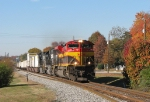 KCS 4038 passing some good fall color in Douglasville