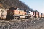 Westbound stack train