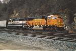 Loaded coal train heads for tiedown