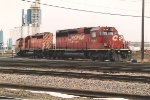Manifest enters BNSF trackage moving east