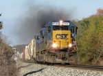 Q334-16 smokes its way through the Thornapple River valley