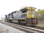 CSX 7575 follows along with the EOT on its rear coupler