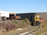 CSX 2705 sits in the mowed out path as Y106 works Innerspace