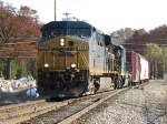 CSX 5496 rolls through the OS at Seymour with Q327-30