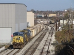 CSX 7701 & 7623 lead Q335-30 over Godfrey on the Sunnyside Lead