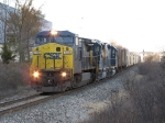 CSX 7312 heads west near milepost 146 with Q335-31