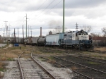MMRR 24 pulls forward through Ann St Yard with 11 cars from points east on the GRE