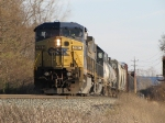 CSX 7697 & 8523 roll west near the west end of the Plymouth Sub with Q335-07