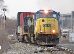 4523 hammers the switch at Seymour as it leads Q196-09 off the double track