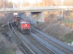 CN 2571 leads a freight into Bayview Junction