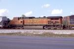 BNSF 4751 on inbound grain train