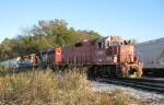 EARY train switching at Sylacauga near the mining operations at Ghants Quarry.