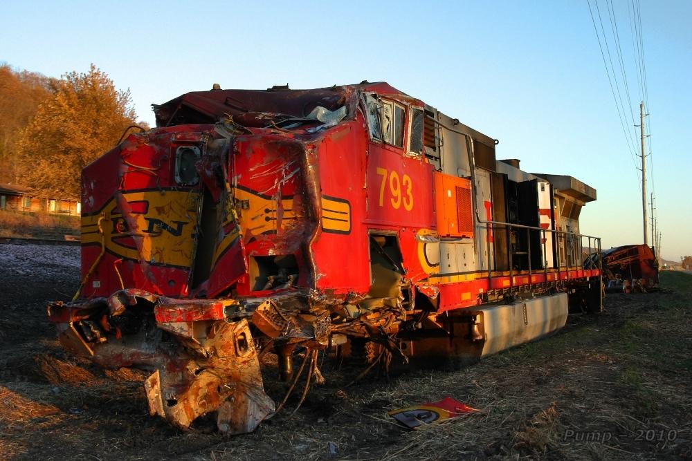BNSF Rear End Collision and Derailment