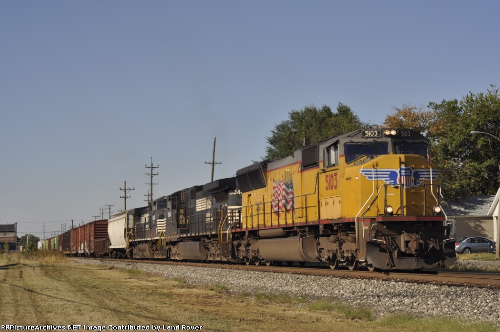 UP 5103 On NS 197