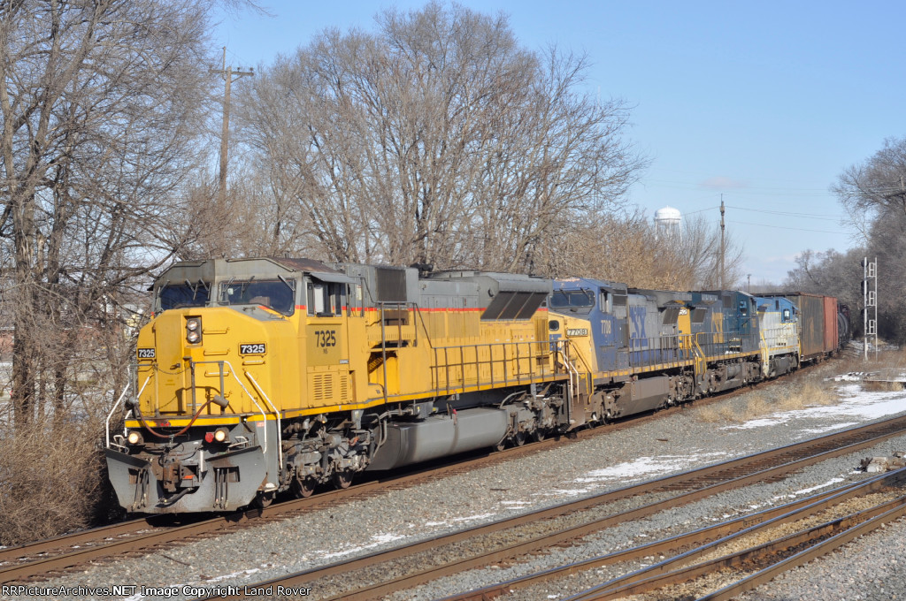 NS 7325 On NS 177 Eastbound