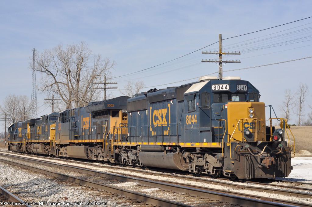 CSXT 8044 Power For A Rock Train