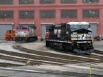 MBTA 1123 & NS 8357