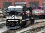 NS 8357 & MBTA 1123