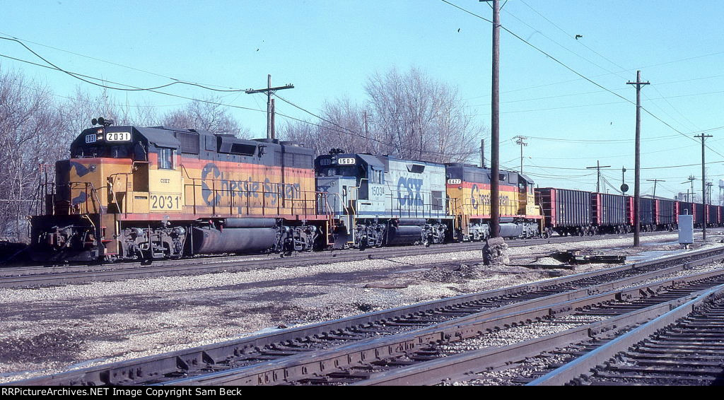 CSX 2031, 1503, and 8427 with Detroit Edison Coal