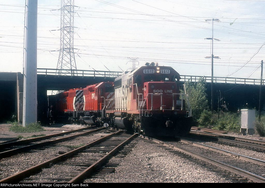 SOO 6612 and CP 5524 on #502