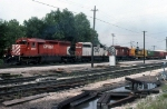 CP 5407, SOO 6603, CP 5557, and ATSF 7491