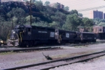 PC power lays over in Weehawken yard.