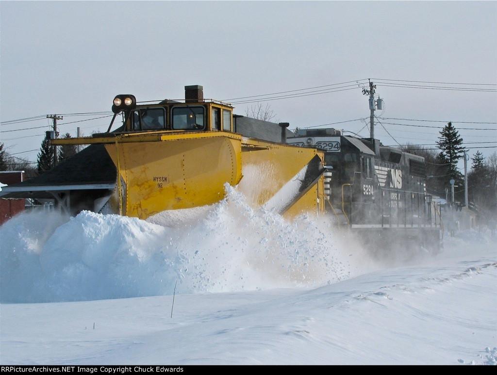 NYS&W snow plow