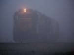 CSX 2312 in the fog at CSX yard