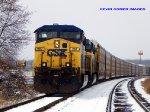 CSX Q235 waits near SE Morgantown on the siding