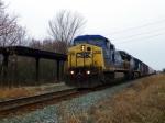 CSX 7836 passing L&N Depot platform