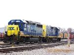 GP40-2 6410/Slug 2313 set in the yard