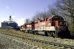 R.J. Corman 3805 trails on K562 on the Memphis Line