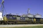 CSXT 7728 is the second unit on Q275 near Memphis Jct.