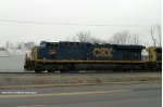 CSXT 802 (ES44AC) leads T205 south by WKU