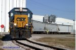 CSX Y110 adds one car to a cut of three at an industry