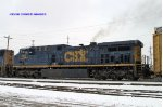 CSXT 494 in the snow on Q534 north