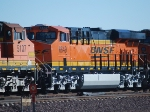 BNSF 6649 rolls east with BNSF 5107 behind her towards Ludlow, Ca.