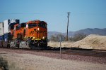 BNSF 7877 leads BNSF 6631 eastbound pulling a Hot Z-Train into the BNSF Barstow yard.